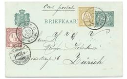 Nederland 1899 Overveen ,Briefkaart 2,5 Cijfer Met Cijfer 1876 Slechts 3 Maand Mogelijk !