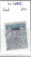 VIENNE - S/90 - 15c Sage Bleu  - Oblit  CAD A2  (  Liguge  ) - Marcophilie (Timbres Détachés)