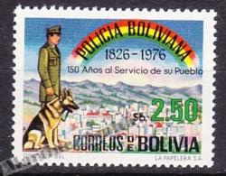 Bolivia 1976 Yvert 551, Police 140th Anniversary - MNH