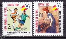 Bolivia - Bolivie 1982 Yvert 622- 23, Spain '82, FIFA World Cup  - MNH