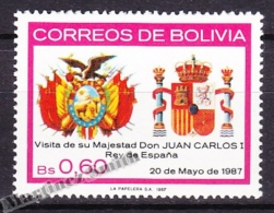Bolivia - Bolivie 1987 Yvert 682, Visit Of H.M. King Of Spain Juan Carlos - MNH