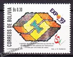 Bolivia - Bolivie 1992 Yvert 789, Expo '92, Sevilla Universal Exhibition - MNH