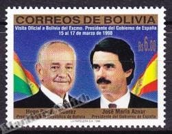 Bolivia - Bolivie 1998 Yvert 973, Visit Of The Spanish Prime Minister M. Jose Aznar - MNH