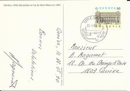 798, EUROPA, Bâtiment Postal, Verso Hôtel Des Postes Et Rue Mont-Blanc, Genève