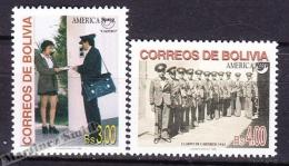 Bolivia - Bolivie 1998 Yvert 979- 80, America UPAEP, The Postman - MNH