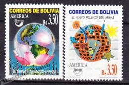 Bolivia - Bolivie 1999 Yvert 1036- 37, America UPAEP - New Milenium  Without Guns - MNH