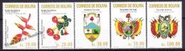 Bolivia - Bolivie 2001 Yvert 1083- 87, Definitive, National Emblems - MNH