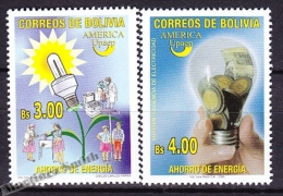 Bolivia - Bolivie 2006 Yvert 1236- 37, America UPAEP, Energy Saving - MNH