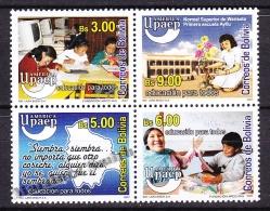 Bolivia - Bolivie 2007 Yvert 1310- 13, America UPAEP, Education For All - MNH
