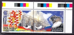 Bolivia - Bolivie 2010 Yvert 1399- 1400, America UPAEP, National Symbols - MNH