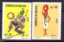 Bolivia - Bolivie 1972 Yvert A 297- 98, Folklore - Air Mail - MNH