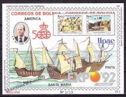 Bolivia - Bolivie 1989 BF 735/ 36 - America UPAEP - MNH
