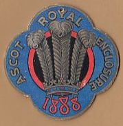 SPORT Horse Racing Ascot Royal Enclosure 1888  Cardboard Badge E65 - Eintrittskarten