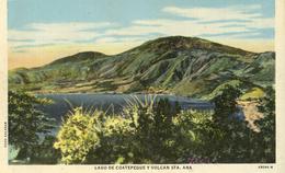 CPA (  Republica De El Salvador)lago De Coatepeque Y Volcan Sta .ana - Salvador
