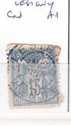 VIENNE - S/101 - 15c Sage Bleu  - Oblit  CAD A1  (  Lesigny ) - Marcophilie (Timbres Détachés)