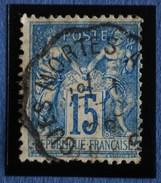 Sage N°90.Type II Ob.(Ambulant ) AIGUES-MORTES à NIMES 1 Déc 1889.
