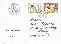 1051,1052, EUROPA, Cirque, Obl. 6441 Rütli 1er Août 2002, Env. Fête Nationale 2002