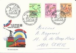 WI 307,308,310, Pro Juventute, écolier, Lire, Faire De La Musique, Dessiner, Obl. Langnau Am Albis, 1-4.12.1988