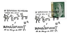 "Espagne / Spain (1997) - Benalup 2000 : Grotte ""del Arco"" - Peintures Rupestres / Cave Paintings. Chasseurs / Hunters."