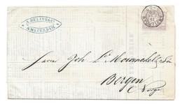 Nederland 1886 Drukwerk Naar Noorwegen ! Met 2,5 Cent Cijfer