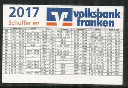 Volksbank Franken EG,  Small Pocket Calendar 2017 - Calendriers