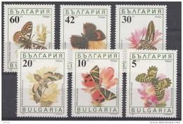 Bulgarie 1990  Mi.nr.:3852-3857 Schmetterlinge  Neuf Sans Charniere / Mnh / Postfris