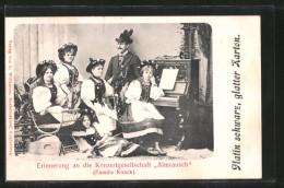 CPA Konzertgesellschaft Almrausch, Familie Knack - Musique Et Musiciens