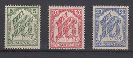 Deutsches Reich / Zähldienstmarken Für Baden / Michel 11-13