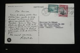Bermudes   CP Publicitaire Amora   (idem Ionyl)  1952 Flamme Poisson Aquarium