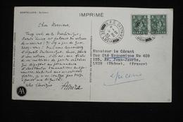 Ste Lucia  CP Publicitaire Amora   (idem Ionyl) 1952 Volcan Solfatare