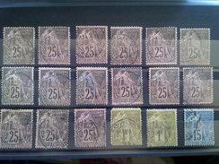 ËMISSIONS GÉNÉRALES TYPE A.DUBOIS BELLE LOT DE 126 TIMBRES, No.5. DEPART 1 EURO