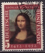 BRD 1952 Geburtstag Von Leonardo D Vinci Mona Lisa 5 Pf. Michel 148 - [7] Federal Republic