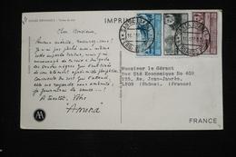 Guinée Espagnole  CP Publicitaire Amora (idem Ionyl)  16/04/1953 (peu Courant ) Tortue