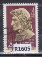 """URSS 1965: Francobollo Usato Da 4 K. Della Serie """"7° Centenario Della Nascita Di Dante Alighieri""""."""