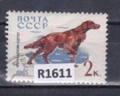 """URSS 1965: Francobollo  Usato Da 2 K. Della Serie """"Cani Di Razza""""."""