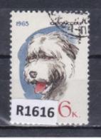 """URSS 1965: Francobollo  Usato Da 6 K. Della Serie """"Cani Di Razza""""."""