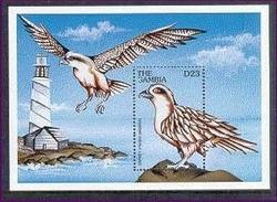 MINT NEVER HINGED SOUVENIR SHEET OF SEA BIRDS   #  0406-3  (  GAMBIA   2012