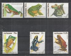SURINAME 1981 - GRENOUILLES - FROGS - CPL. SET - OBLITERE USED GESTEMELT USADO - Frogs