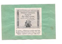 EX LIBRIS   ASSIGNAT DE DIX SOUS - - Ex-libris