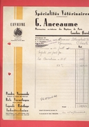 FACTURE 1941 SPECIALITES VETERINAIRES ANCEAUME PHARMACIEN A CONCHES EURE - France