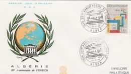 Algérie FDC - Yvert 433 UNESCO - Alger 19/11/1966 - Algerien (1962-...)