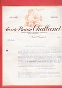 FACTURE DE GUERRE 1941 REPRISE DES BOUTEILLES VIDES JUS DE RAISIN CHALLAND A DIJON COTES D OR - 1900 – 1949