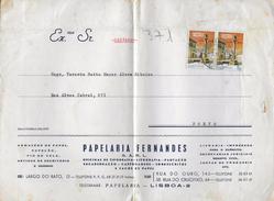 2 SCANS - TIMBRES - STAMPS- LETTRE  - MARCOPHILIE - PORTUGAL - TIMBRES 2. CENTENAIRE DE LA VILLE DE CASTELO BRANCO