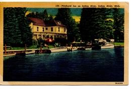INDIAN RIVER, Michigan, USA, Pinehurst Inn On Indian River, 1954 Linen Postcard - Etats-Unis