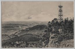 Gempen-Fluh Mit Aussichtsturm, Basel Und Schönmatt - Litho Metz