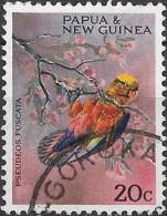 PAPUA NEW GUINEA 1967 Christmas. Territory Parrots - 20c. - Dusky Lory FU - Papúa Nueva Guinea