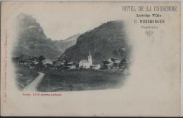 Hotel De La Couronne Loeche Ville C. Nussberger - Inden (alt. 1176 M)
