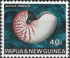 PAPUA NEW GUINEA 1968 Sea Shells -  40c. - Chambered Or Pearly Nautilus MNH - Papua New Guinea