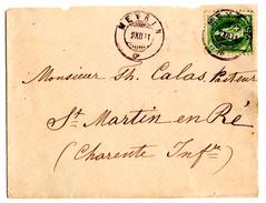 Lettre De Meyrin (02.12.1891) Pour Saint Martin De Ré