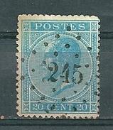 18 Gestempeld PT 245 MESSANCY - COBA 12,00 - 1865-1866 Profile Left